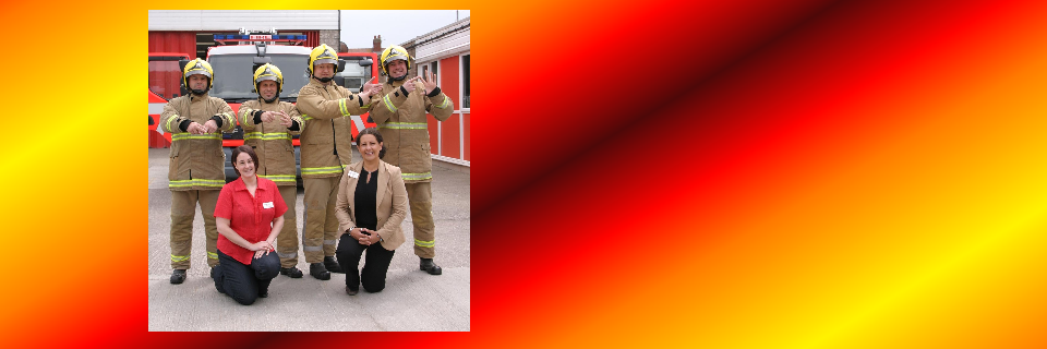 Bispham Fire Fighters Learn BSL